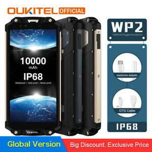 OUKITEL-WP2-IP68-Waterproof-Dust-Shock-Proof-Mobile-Phone-10000mAh-Smartphone