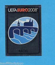 PANINI-EURO 2008-Figurina n.10- BASEL - SCUDETTO/BADGE -NEW BLACK