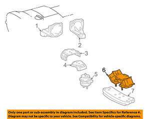 details about lexus toyota oem 98 05 gs300 engine motor mount torque strut 1237146160 2001 Lexus ES300 Engine Diagram