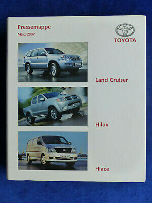 Toyota Land Cruiser Hilux Hiace - Hardcover Pressemappe Cd-rom Press-kit 03.2007 Einfach Zu Schmieren