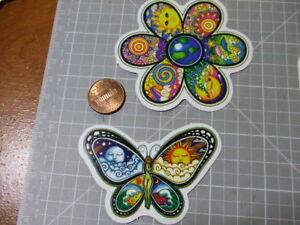 PEACE-LOVE-BUTTERFLY-FLOWER-GLOSSY-Sticker-Skateboard-phone-Laptop-Bombit-NEW