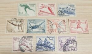 Germany Third Reich Stamps 1935 Winter/1936 Summer Olympic Games Singles 052709