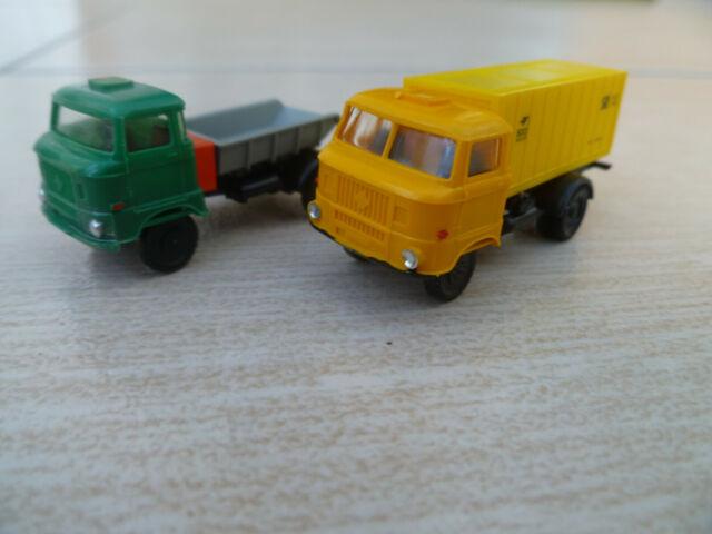 unbespielt OVP 2 BW Fahrzeuge Roco Minitanks 902 Rungenwagen Kbs der DB