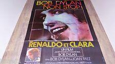 bob dylan RENALDO ET CLARA joan baez  ! affiche cinema musique concert 1977