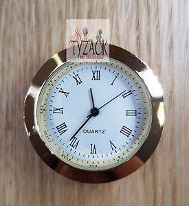 Quartz Roman Numerals 33mm Clock Insert Gold Plated Ty Ck033 Gr Ebay