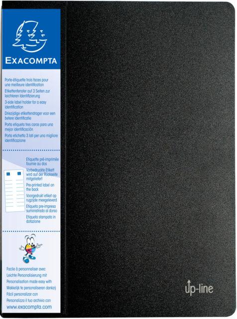 EXACOMPTA Sichtbuch up-line, PP, 80 Hüllen, A4, 24 x 32 cm, schwarz