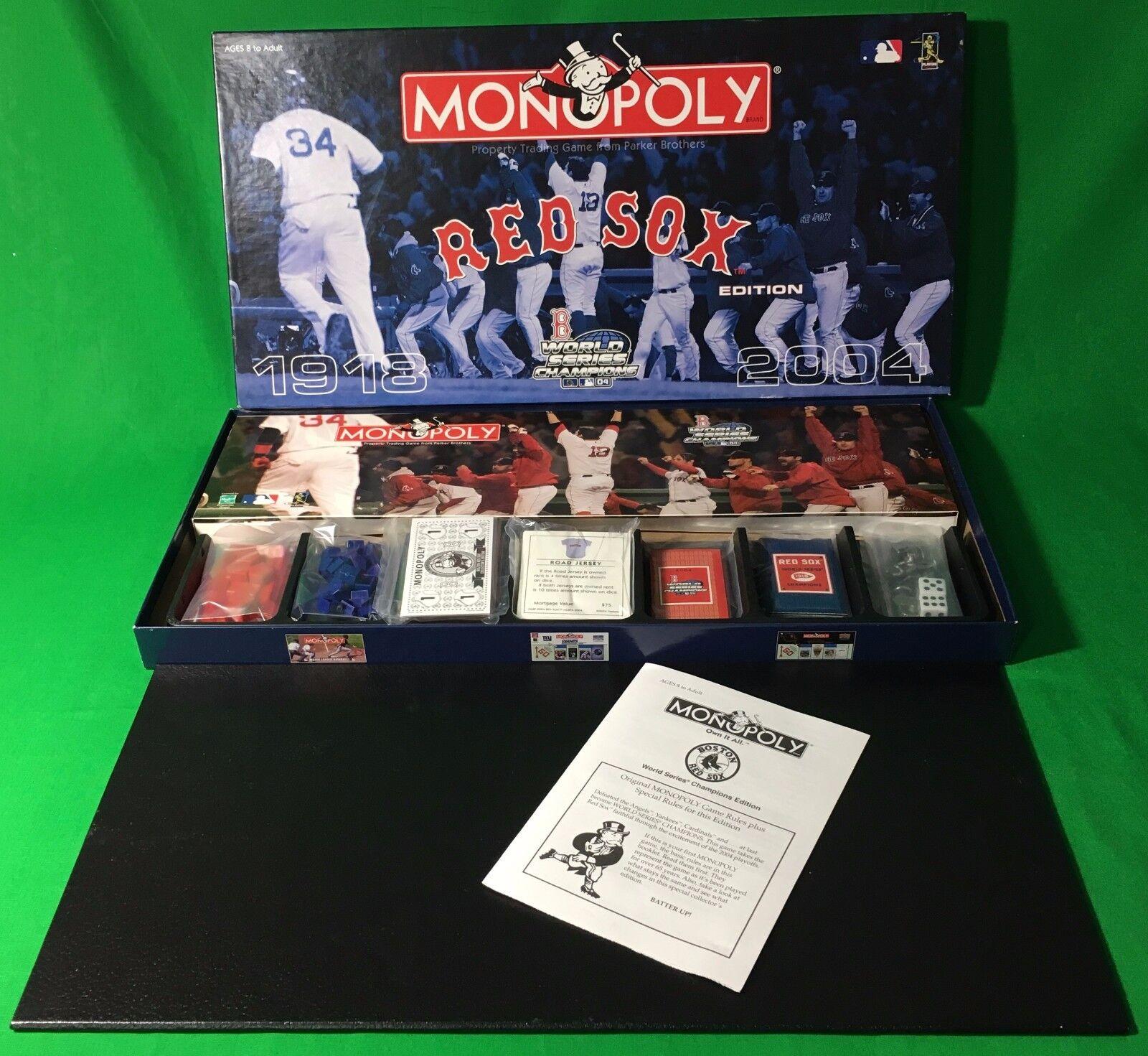 Boston rosso Sox Sox Sox 2004 Commemorative edizione Monopoly 4d6686