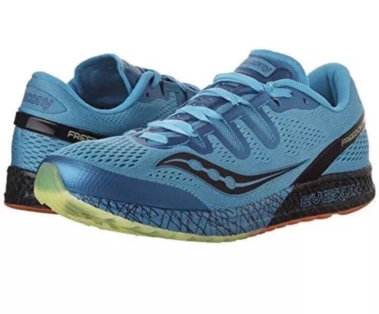 Saucony Para hombre libertad ISO Calzado para Correr, Azul Negro Citron, 12 M US S20355-3
