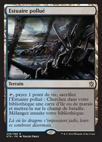 ENGLISH ESTUAIRE POLLUE NM MTG MAGIC KHANS OF TARKIR POLLUTED DELTA