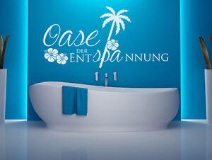Details zu Wandtattoo Badezimmer Spruch Oase der Entspannung Nr 1  Wandaufkleber Wellness