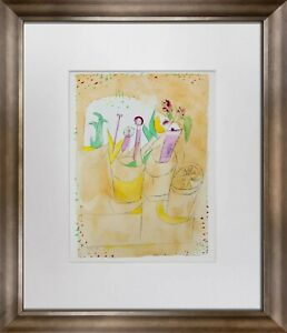 "Paul KLEE Lithograph Color LIMITED Ed. ""Blumentisch"" w/Archival Frame"