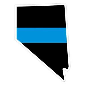 Nevada-NV-State-Thin-Blue-Line-Police-Sticker-Decal-194-Made-in-U-S-A