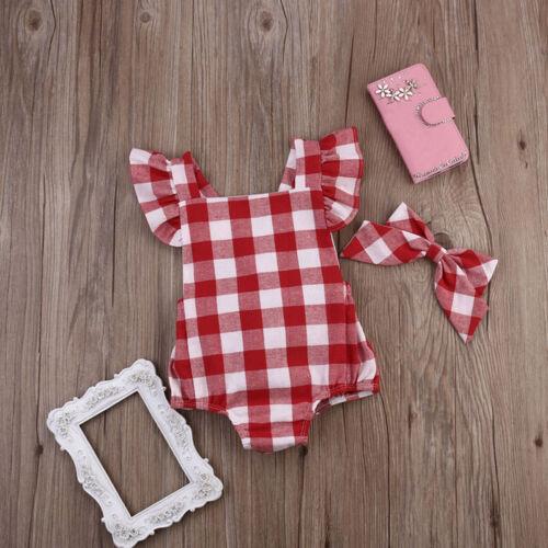 Newborn Baby Girl Cotton Bowknot Clothes Bodysuit Romper Jumpsuit Outfit Set