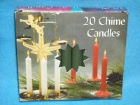 Christmas Angel Chime Candles, Pine Green, Box Of 20, Nib, 1/2 By 4 Tall