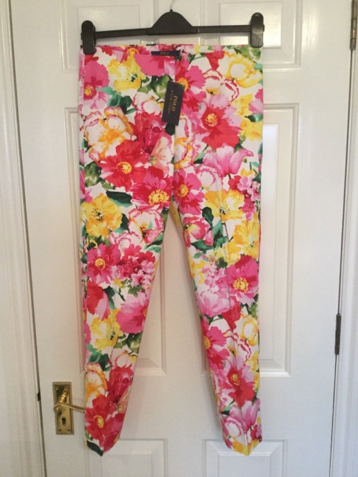New Polo Ralph Lauren summer trousers flower pattern real quality  8US 10 12UK