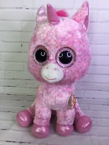 a1bc30bc4cb TY Beanie Boos Rosey Unicorn Pink 17 inch Extra Large Retired ...