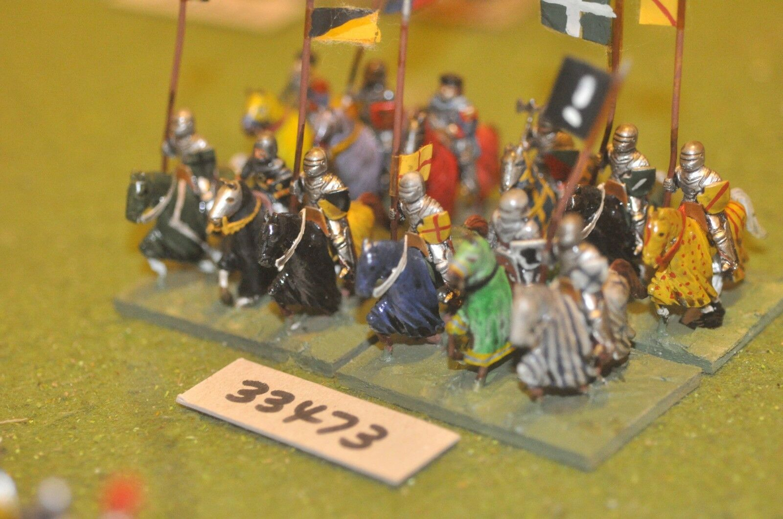 25mm medieval   english - men at arms 12 figures - cav (33473)
