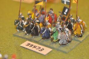 Médiévale 25 Mm/anglais-men At Arms 12 Figures-cav (33473)