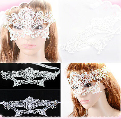 Women Fashion Sexy Photo Photography Lace White Cutout Mask Goggles Mask Veil
