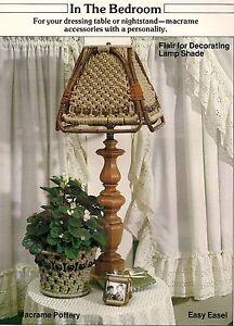 Lampe Ton & Pot Housse Gabarit - Loisirs Créatifs Livre : #1938 Macramé