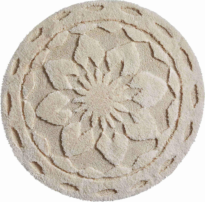 Baumwolle Badematte   Badteppich Mandalas - Desire Farbe natur   2 Größen | Schön geformt