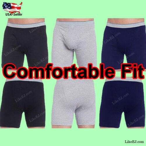 Mens 3 9 Pack CottonBlend Underwear Boxer Briefs Comfort Waistband Panties S~3XL