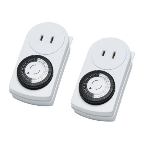 Ikea 2 pack timer wall outlet 24 hours indoor light lamp ikea 2 pack timer wall outlet 24 hours indoor light lamp ungrounded tanda ebay aloadofball Images