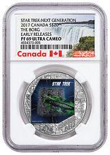 2017 Canada Star Trek The Borg 1 oz Silver Colorized $20 NGC PF69 UC ER SKU47114