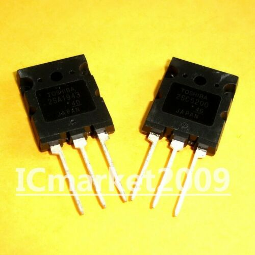 C5200  Transistor 5 PAIRS 2SA1943 2SC5200 TO-3PL 10 PCS  A1943