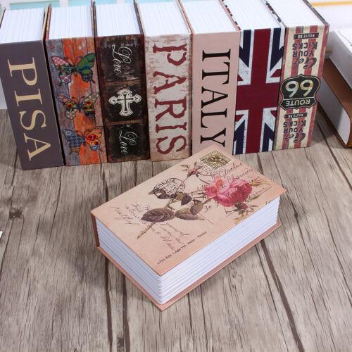Dictionary Book Secret Safe Security Box Money Cash Jewelry Lock Box Rose Dia