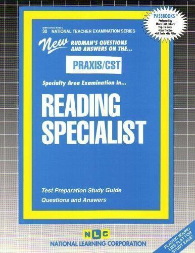 READING SPECIALIST (National Teacher Examination Series) (Content Specialty Test