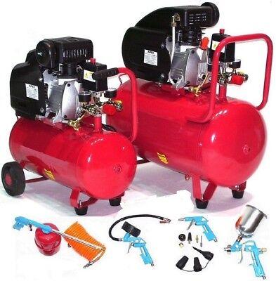 Druckluftkompressor 50l Kessel 1100W 1,5PS Werkstattkompressor