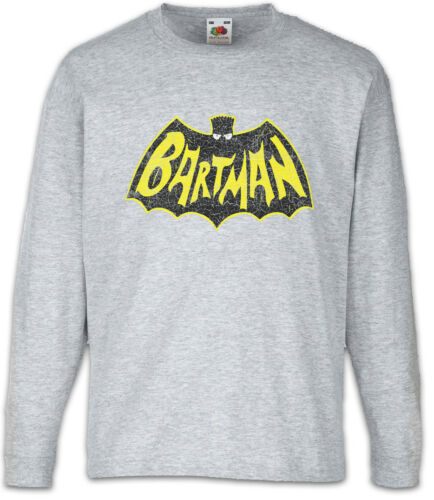 Bartman Kids Long Sleeve T-Shirt Bad Crossover Bart Fun Man