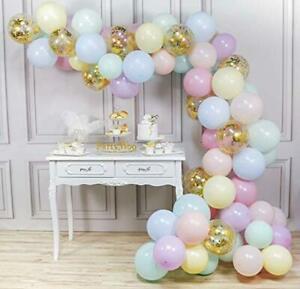 PartyWoo-Luftballons-Pastell-80-Stueck-12-Zoll-Pastel-Ballons-in-7-Pastellfarbe