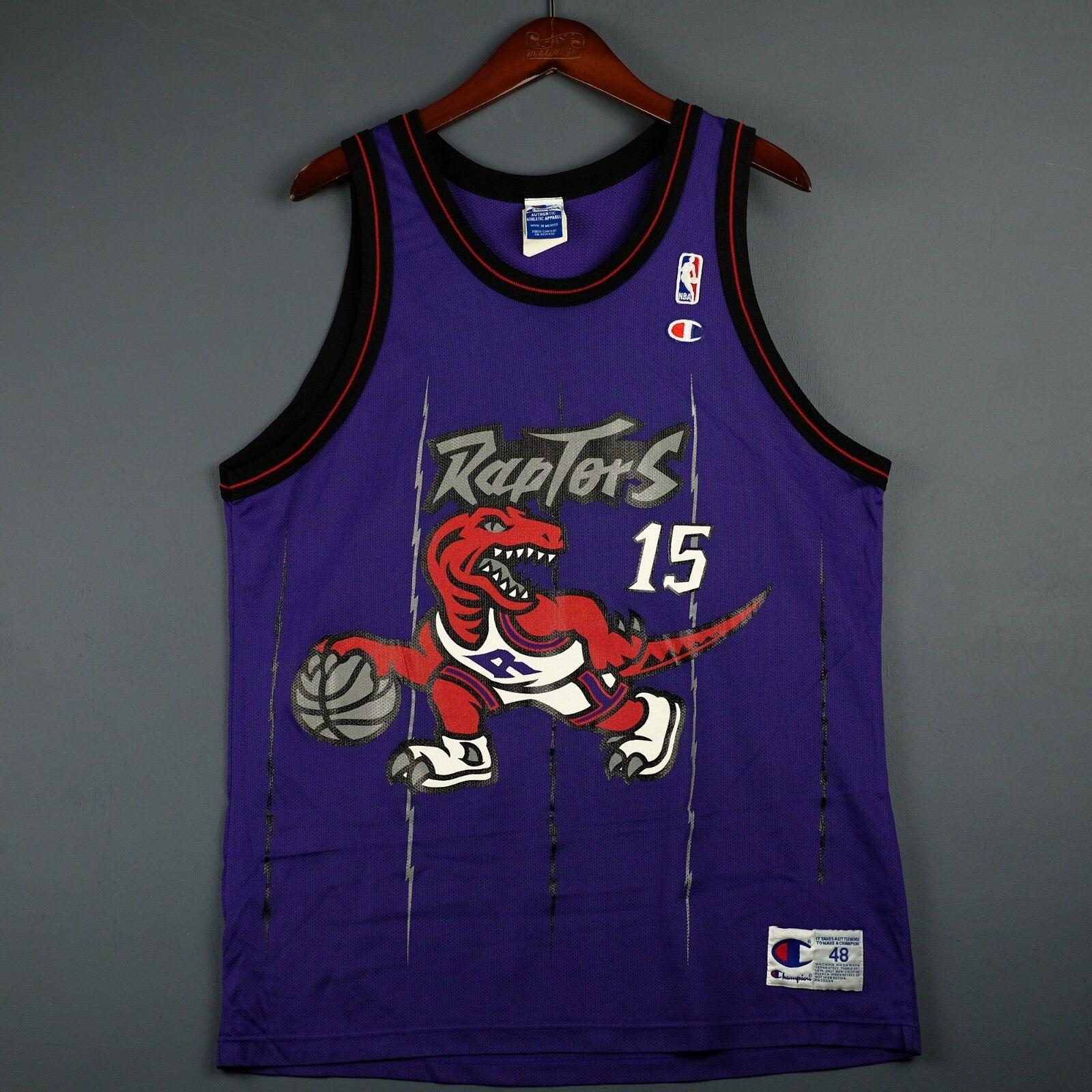 100% Authentisch Vince Carter Carter Carter Vintage Champion Raptors Trikot Größe 48 L XL 795386