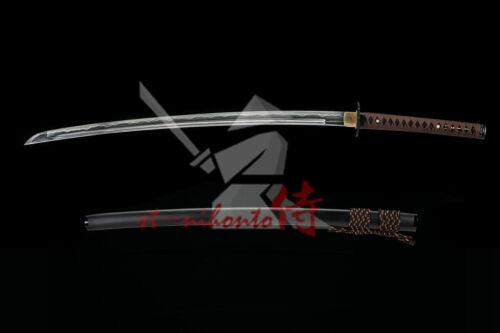 NEW CLAY TEMPERED FOLDED STEEL BLADE JAPANESE SAMURAI HANDACHI KATANA SWORD