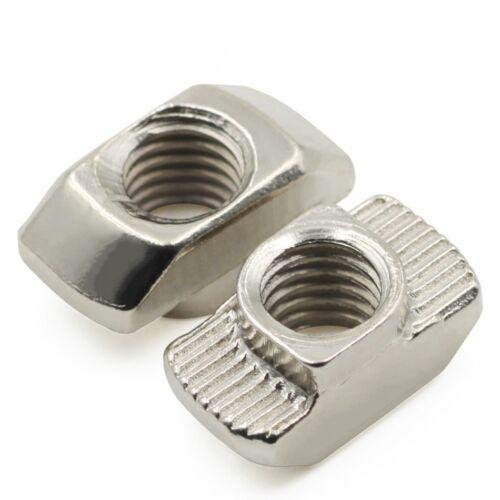 M3//M4//M5 For 20//30//40//45 Series Slot Sliding T-nut T Nut Aluminum Profile x50Pcs