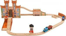 Thomas Tank Engine Wooden Train Set Friends Railroad King Of The Castle Playset
