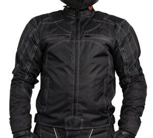 Motorradjacke-mit-Protektoren-Herren-Textil-Motorrad-Jacke-Roller-Gr-S-7XL