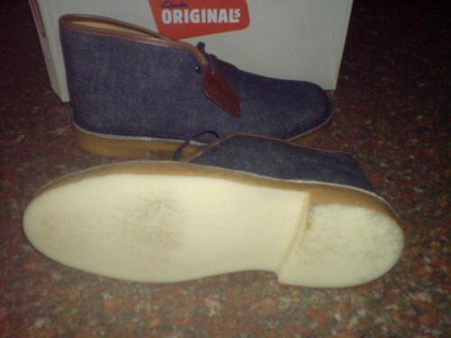 Clarks Originals Mens ** DESERT BOOTS ** INDIGO DENIM ** UK 6,7,8,9,10,11 F