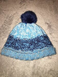 ea56588fda48 George Baby Boys Blue Wooly Bobby Hat Pom Pom 3-6 Months