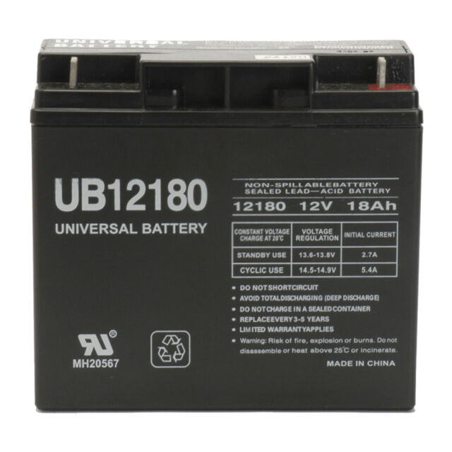 UPG 12V 18AH Wheelchair Scooter Battery Replaces 20ah BB Battery EB20-12