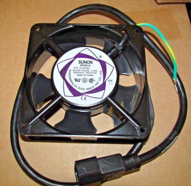 SUNON DP201A 2123HBL.GN Aluminio Marco ventilador de corriente alterna 220-240 V 0.125AMP 120*120*38