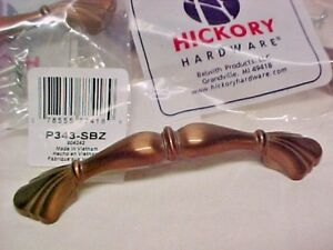 10-Hickory-P343-SBZ-Satin-Bronze-3-in-Cabinet-Drawer-Handle-Pulls-40-Available