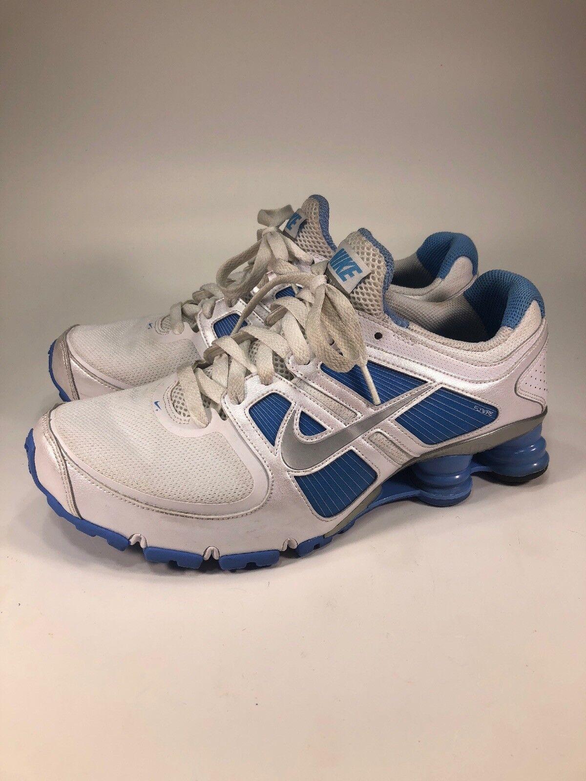 Nike Shox Turbo 11 White/Blue 2010 Running Shoes Womens Size 9.5 M