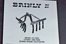 Brinly CC-1000 3-Point 1 Row Spring Shank Cultivator Manual Super Lawn Tractor