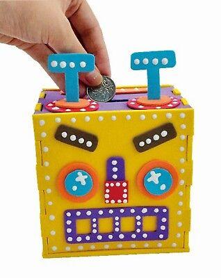 Build Your Own Robot Money Box EVA Foam Craft Kit 3+