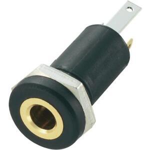 Presa-Jack-Stereo-3-5-mm-da-pannello-Contatti-d-039-orati-con-dado