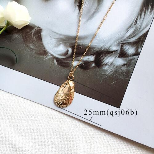 Fashion Women/'s Shell Cowrie Beach Sea Pendant Choker Gold Chain Necklace Yc
