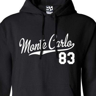 Monte Carlo 83 Script /& Tail HOODIE 1983 Lowrider Sweatshirt  All Sizes Colors